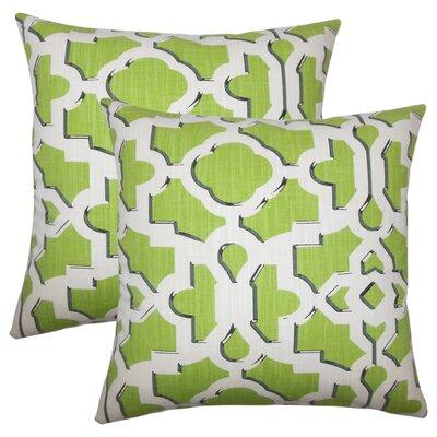 Freeburg Geometric Cotton Throw Pillow Color: Citrus
