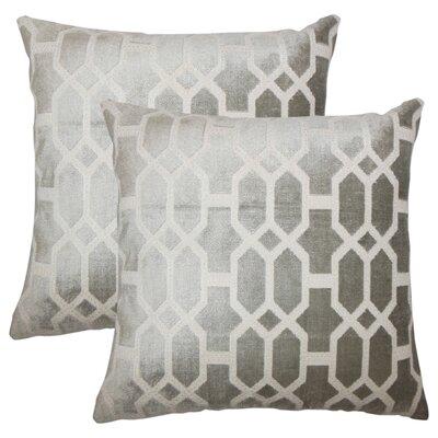 Kerra Geometric Throw Pillow Color: Gray