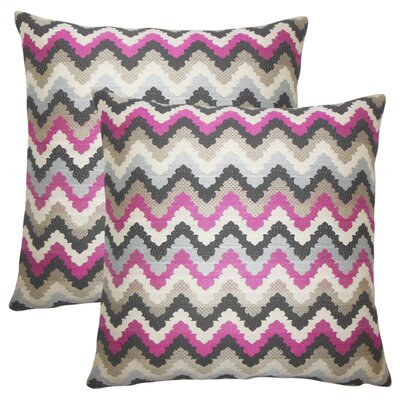 Zariyah Zigzag Throw Pillow Color: Pink/Stone