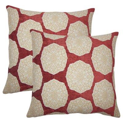 Aurick Geometric Cotton Throw Pillow Color: Cayenne