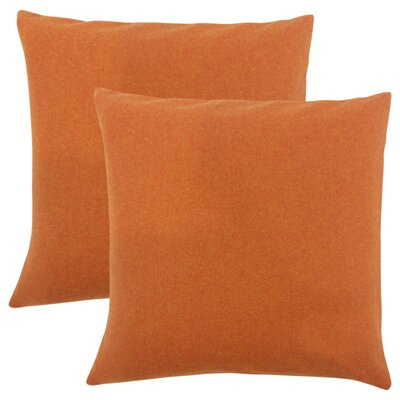 Emmalee Solid Throw Pillow Color: Pumpkin