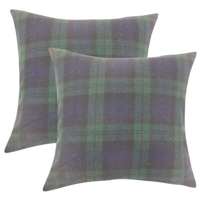 Sweeney Plaid Throw Pillow Color: Blue