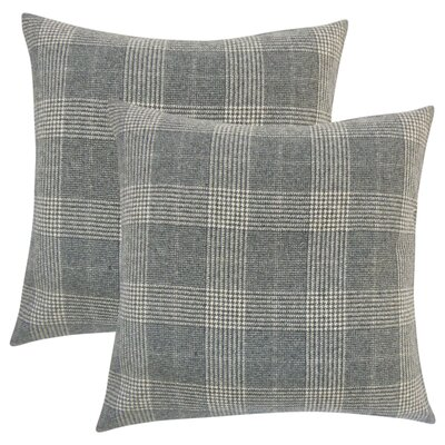 Harriette Plaid Throw Pillow Color: Gray