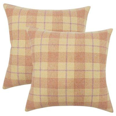 Harriette Plaid Throw Pillow Color: Tan