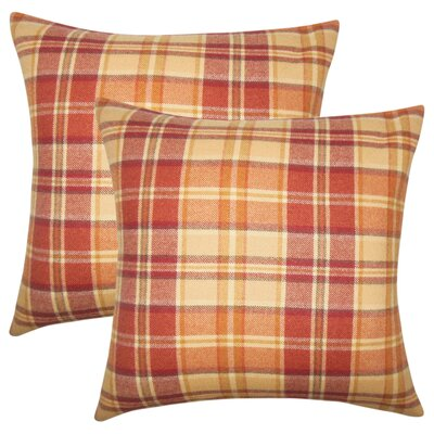Tschaenn Plaid Throw Pillow Color: Red