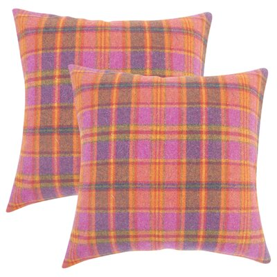 Tschaenn Plaid Throw Pillow Color: Pink
