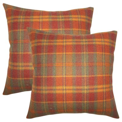 Tschaenn Plaid Throw Pillow Color: Orange