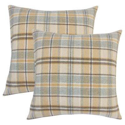 Tschaenn Plaid Throw Pillow Color: Tan
