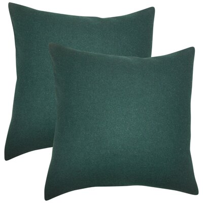 Ambriz Solid Throw Pillow Color: Dark Green