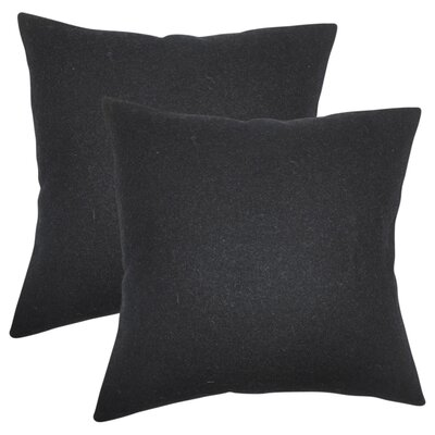 Ambriz Solid Throw Pillow Color: Black