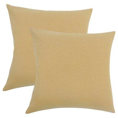 Ambriz Solid Throw Pillow Color: Tan