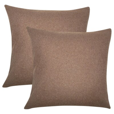 Ambriz Solid Throw Pillow Color: Brown