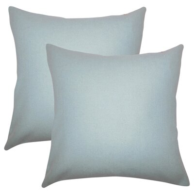 Ambriz Solid Throw Pillow Color: Light Blue
