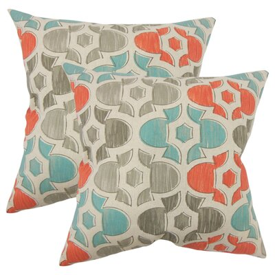 Winterburn Geometric Cotton Throw Pillow