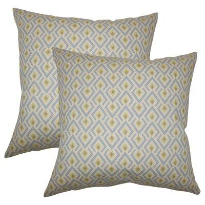 Wyncote Geometric Cotton Throw Pillow Color: Green