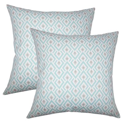 Wyncote Geometric Cotton Throw Pillow Color: Seagreen