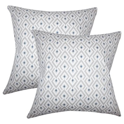 Wyncote Geometric Cotton Throw Pillow Color: Gray