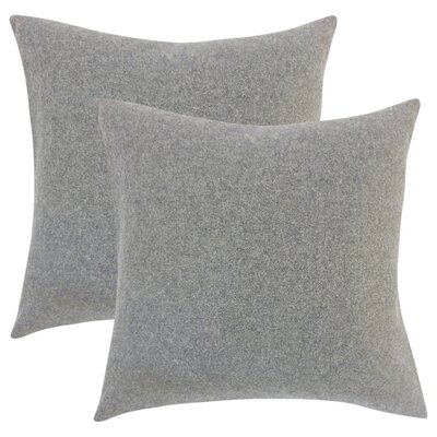 Ambriz Solid Throw Pillow Color: Light Gray