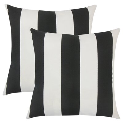Lozier Striped Throw Pillow Color: Black