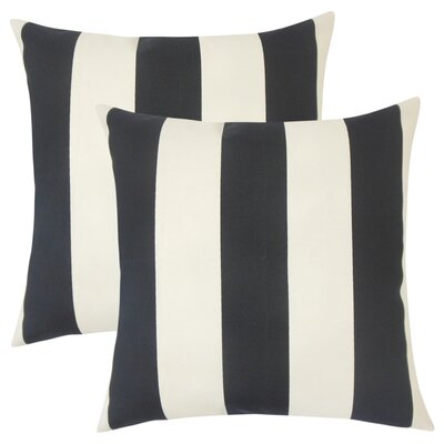 Lozier Striped Throw Pillow Color: Ebony