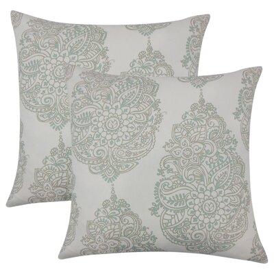 Sealey Damask Cotton Throw Pillow Color: Dark Gray