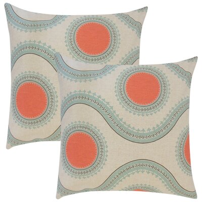 Gwendolyn Graphic Cotton Throw Pillow Color: Orange