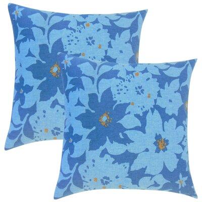 Strawbridge Floral Cotton Throw Pillow Color: Calypso