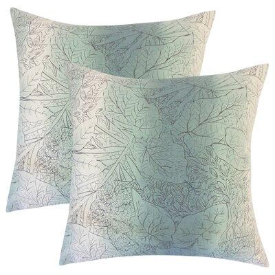 Stringham Floral Cotton Throw Pillow Color: Cove