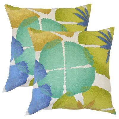 Pohl Floral Cotton Throw Pillow Color: Graystone