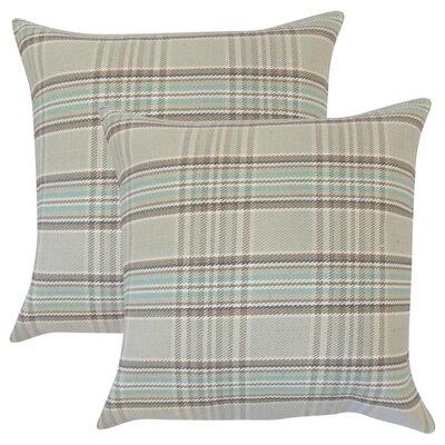 Posiedon Plaid Cotton Throw Pillow Color: Brown