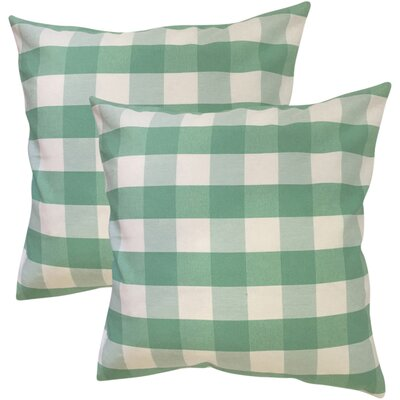 Berkeley Plaid Cotton Throw Pillow Color: Green