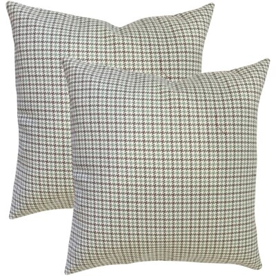 Remi Houndstooth Cotton Throw Pillow