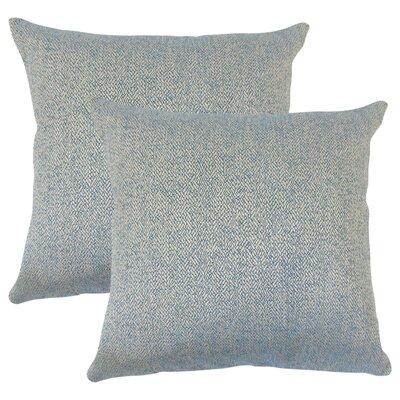 Posner Woven Cotton Throw Pillow Color: Blue