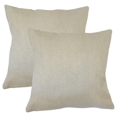 Posner Woven Cotton Throw Pillow Color: Tan