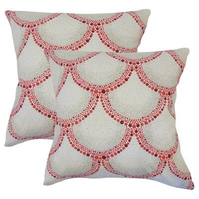 Grijalva Dot Cotton Throw Pillow