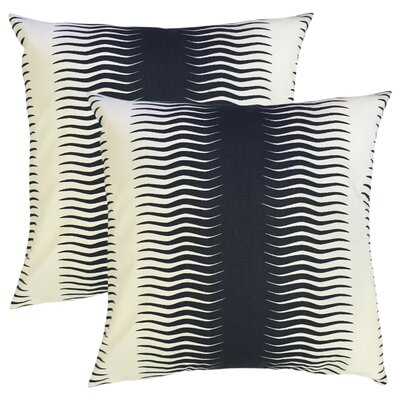 Arias Geometric Cotton Throw Pillow Color: Blue