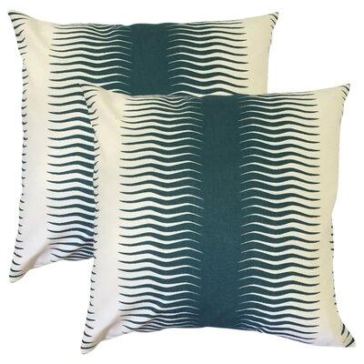 Arias Geometric Cotton Throw Pillow Color: Green