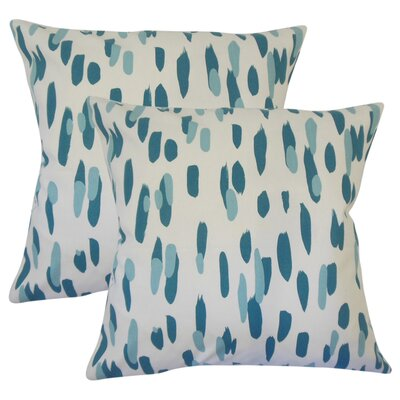Northcutt Graphic Cotton Throw Pillow Color: Blue