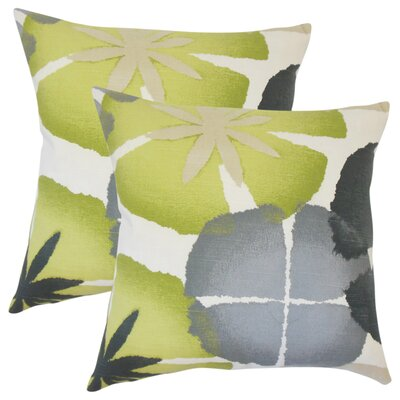 Pohl Floral Cotton Throw Pillow Color: Ultramarine