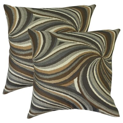 Aliya Graphic Cotton Throw Pillow Color: Amber