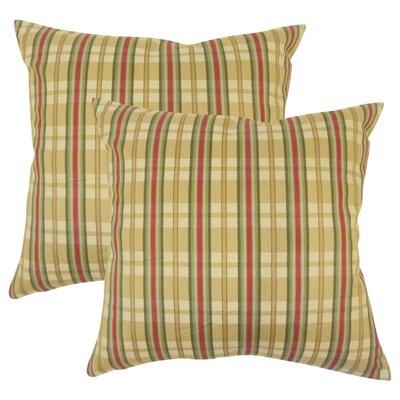 Pouliot Modern Plaid Cotton Throw Pillow