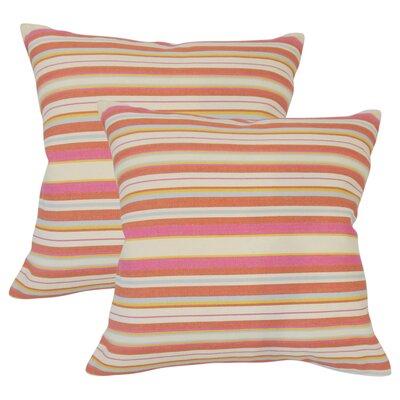 Sawyers Striped Cotton Throw Pillow