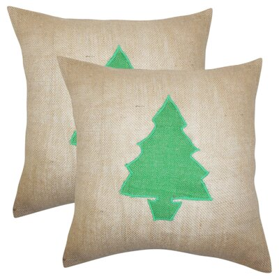 Christmas Tree Linen Throw Pillow