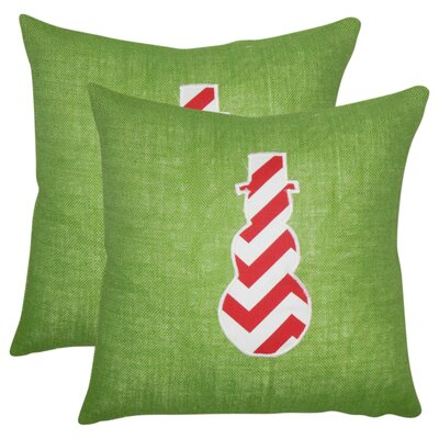Holiday Linen Throw Pillow with Zipper