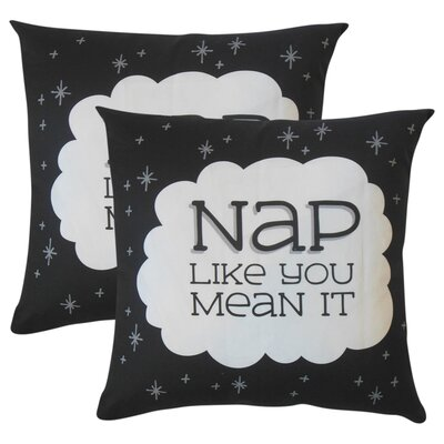 Wishart Nap Like You Mean It Text Cotton Throw Pillow