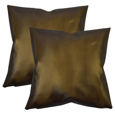 Maliah Solid Throw Pillow Color: Brown