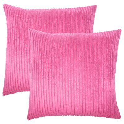 Galilea Solid Throw Pillow Color: Mulberry