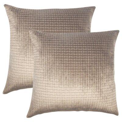 Karen Solid Throw Pillow Color: Dark Brown