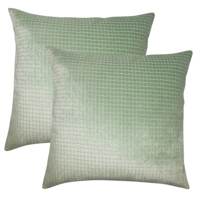 Karen Solid Throw Pillow Color: Seafoam
