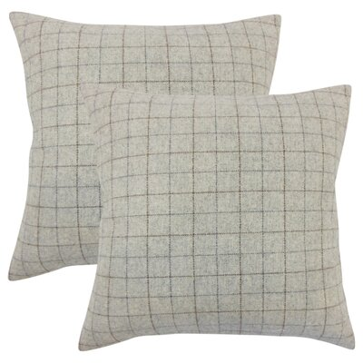 Crowley Plaid Throw Pillow Color: Deep Red